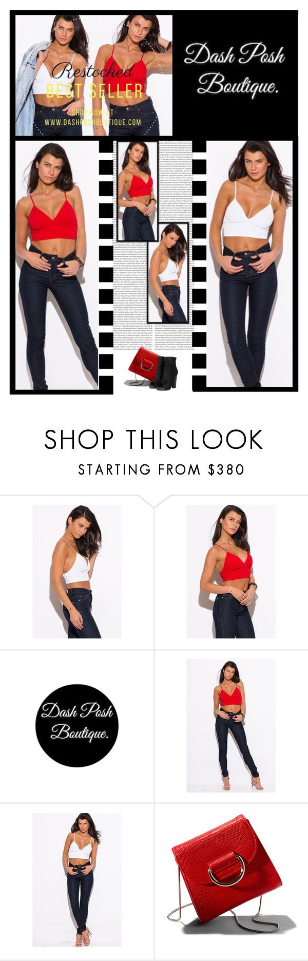 """Dash Posh Boutique (32)"" by irresistible-livingdeadgirl ❤ liked on Polyvore featuring Little Liffner, AllSaints, outfit, red, Sexy, booties and casualoutfit"