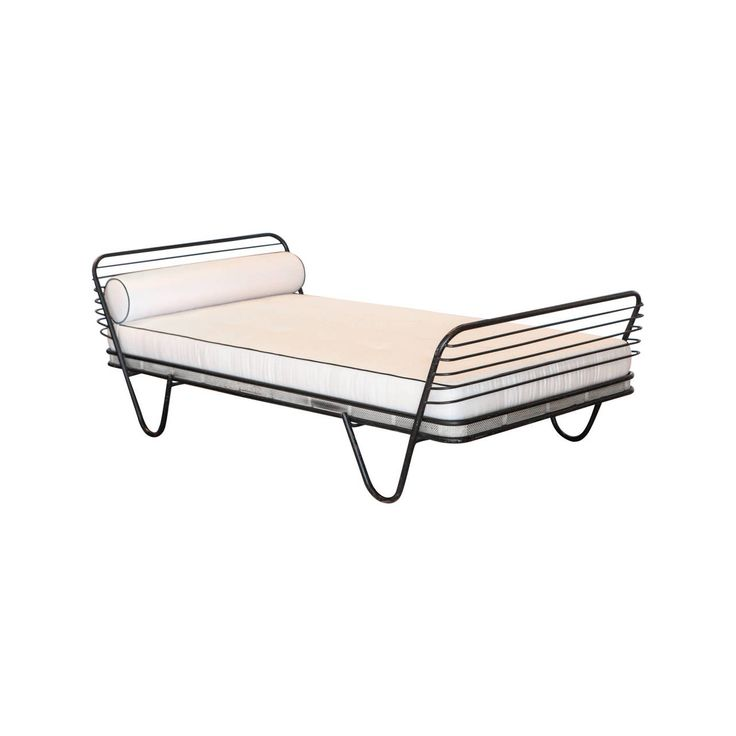 Mathieu Matégot Kyoto Daybed, France, 1950 | From a unique collection of antique and modern day beds at https://www.1stdibs.com/furniture/seating/day-beds/