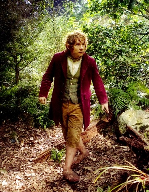 This color scheme of Bilbo's clothing just makes me happy. :)