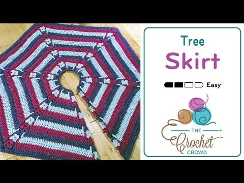 Hexagon Christmas Tree Skirt Pattern + Tutorial - The Crochet Crowd