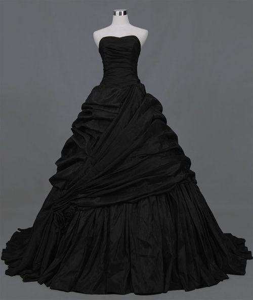 beautiful...a black wedding dress?