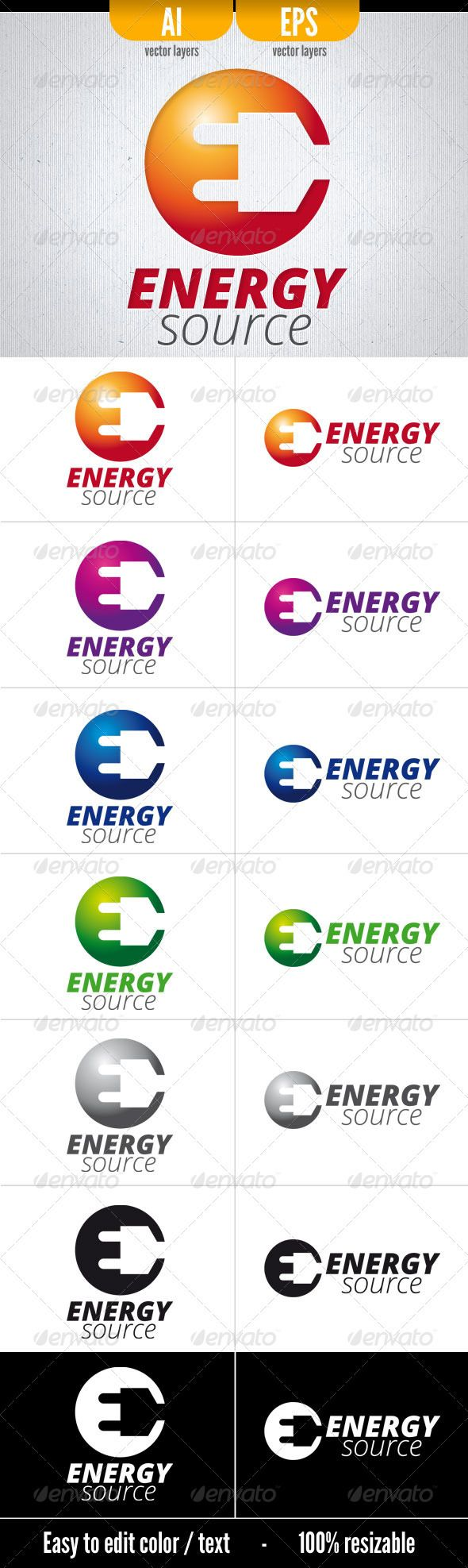 Energy Source . Logo Template
