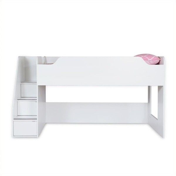 South Shore Mobby Kids Twin Loft Bed With Stairs (3.360 DKK) ❤ Liked On