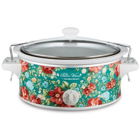 Free 2-day shipping. Buy Pioneer Woman 6 Quart Portable Slow Cooker Vintage Floral | Model# 33362 By Hamilton Beach at Walmart.com