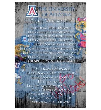 U of A Fight Song, Bear Down - poster