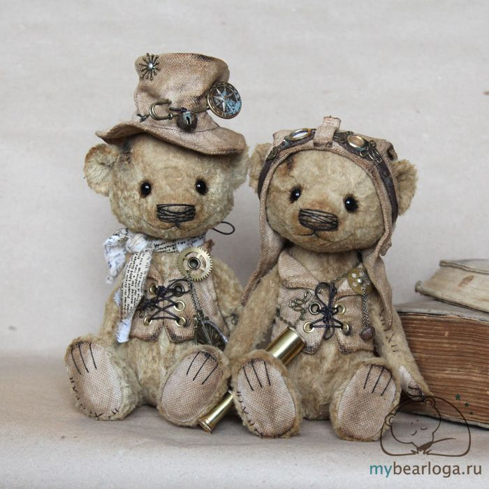 Steampunk Tendencies | Steampunk Teddy Bears By Elena Kamatskaya    So adorable!!!!! Just so cute!!!!❤️
