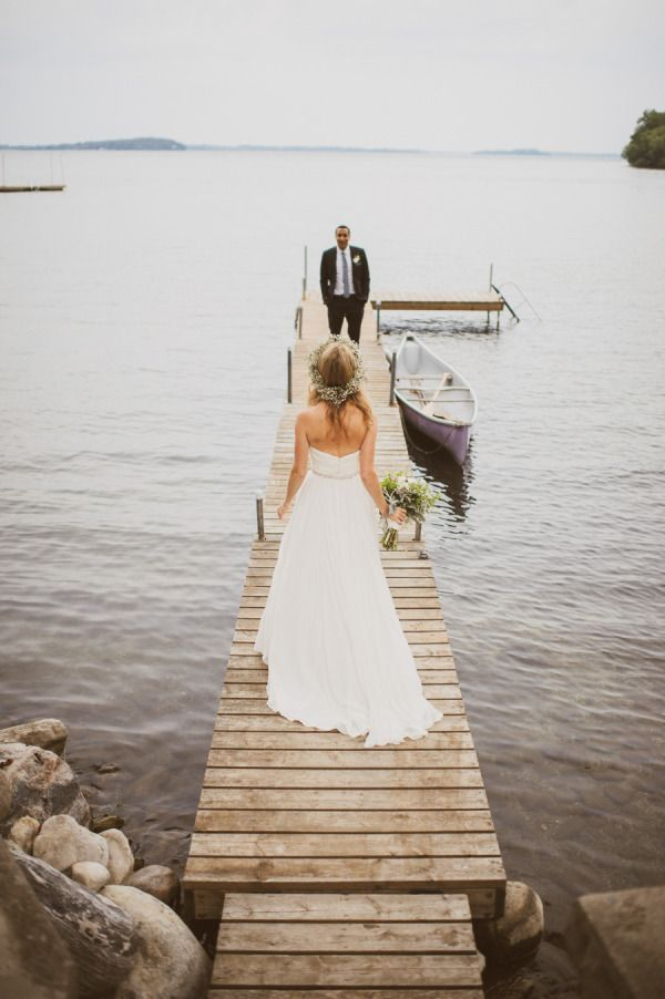 cottage wedding on lake simcoe