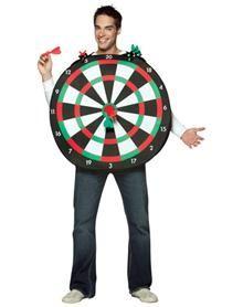 Funny men's costume ideas for Halloween - Dartboard Adult Men's Costume