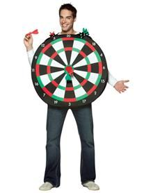 Funny men's costume ideas for Halloween - Dartboard Adult Men's Costume