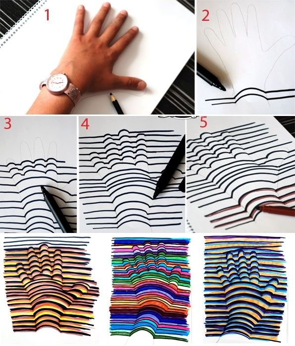 This 3D Hand Drawing is So Cool and Easy-Peasy - http://www.amazinginteriordesign.com/3d-hand-drawing-cool-easy-peasy/