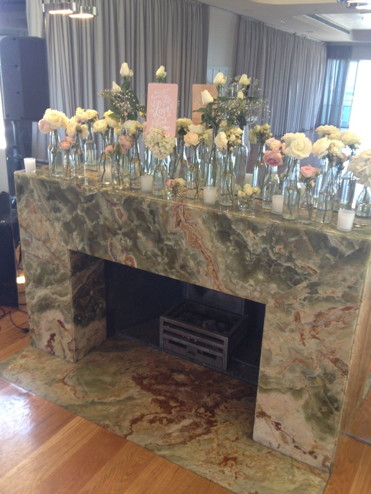 Onyx fireplace in the Harbour Room, RMYS