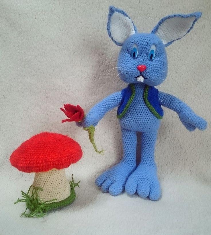 kék nyúl gombával