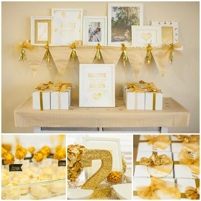 Golden birthday party party kids glitter flags birthday presents party ideas party food