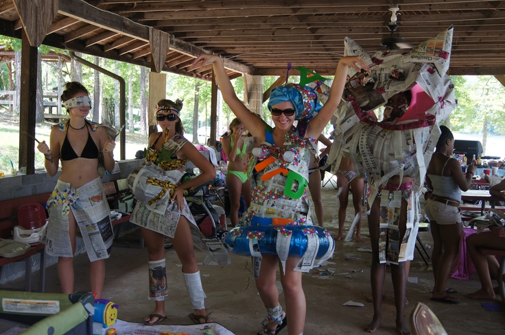 Newspaper And Duct Tape Fashion Show Game