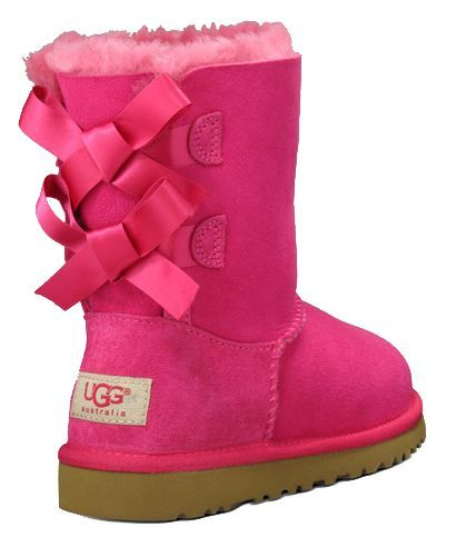 uggs: Ugg Boots, Bows Ugg, Little Girls Fashion, Pink Ugg, Pink Bows, Hot Pink, Baby Girls, Baileys Bows, Kid