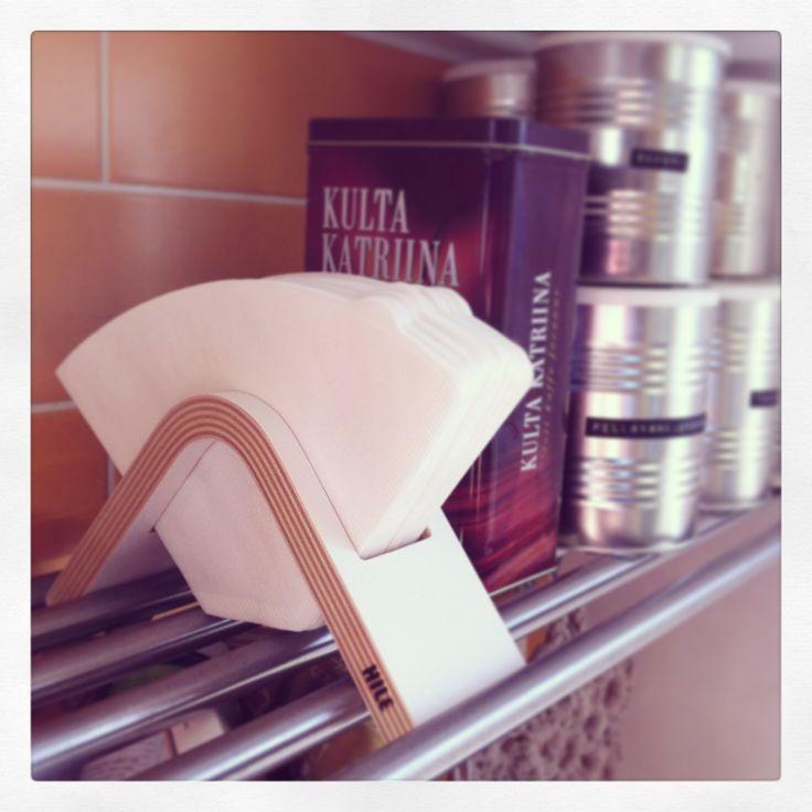 Sola coffee filter holder by Hile. #tampereblog