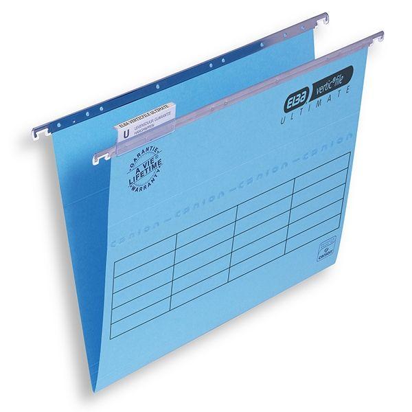 De Elba Verticfile Ultimate blauwe hangmappen (A4-formaat) zijn ideaal voor gebruik in een archieflade.