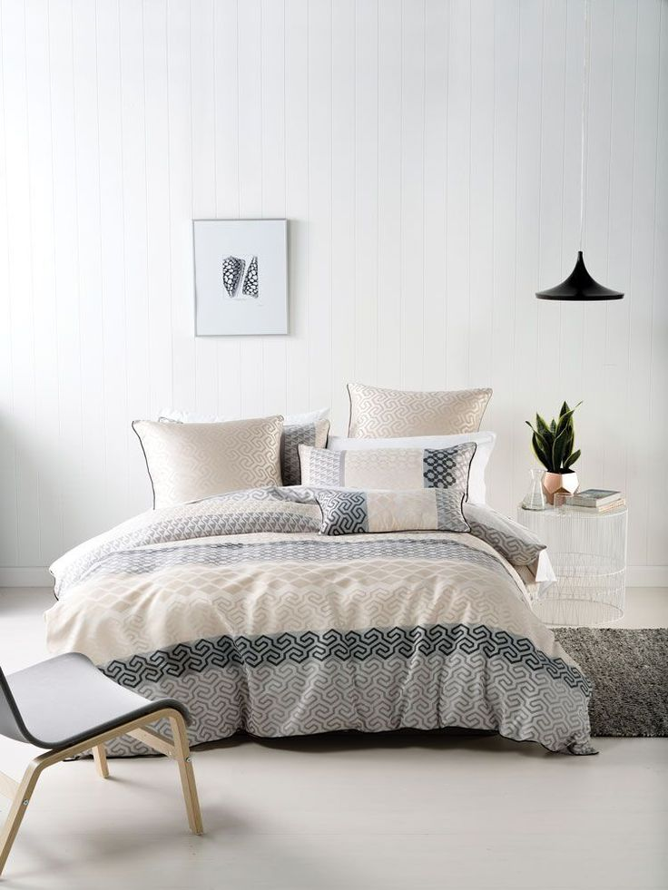 Linen : Tala Neutral Duvet Cover Set.