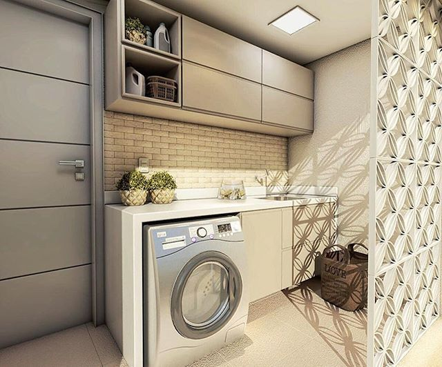 Área de Serviço | Projeto  @pg.arquitetura 3D e Projeto - Área de Serviço l…