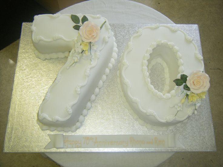Anniversary Cakes 70th Anniversary Cake Anniversary