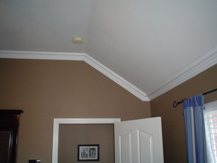 how to cut crown molding for sloped ceiling inspiration pic only cut as 3 pieces not