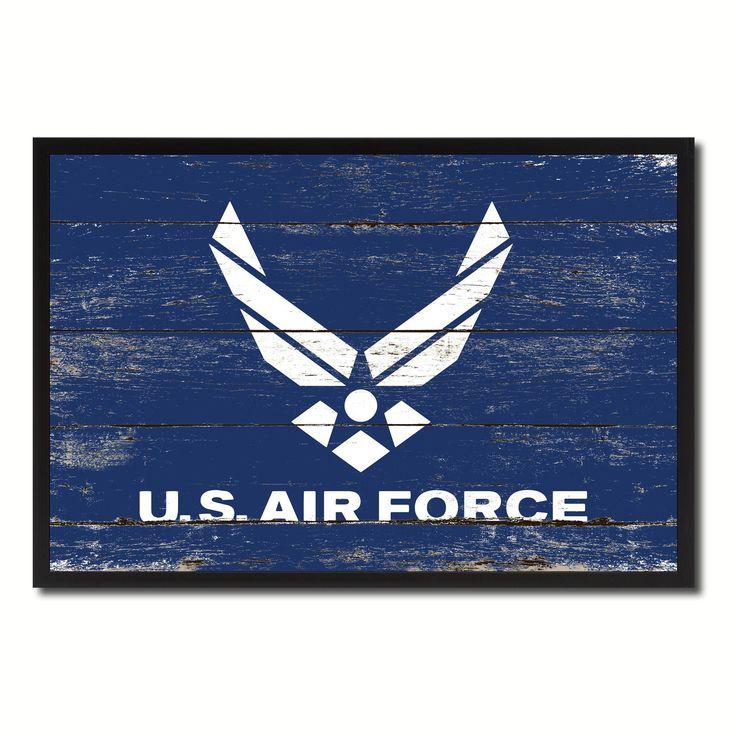 US Air Force Military Flag Canvas Print, Picture Frame Home Decor Wall Art Gifts #homeofficeideasformen