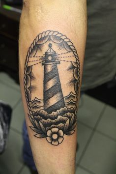 Resultado de imagem para lighthouse black and white tattoo