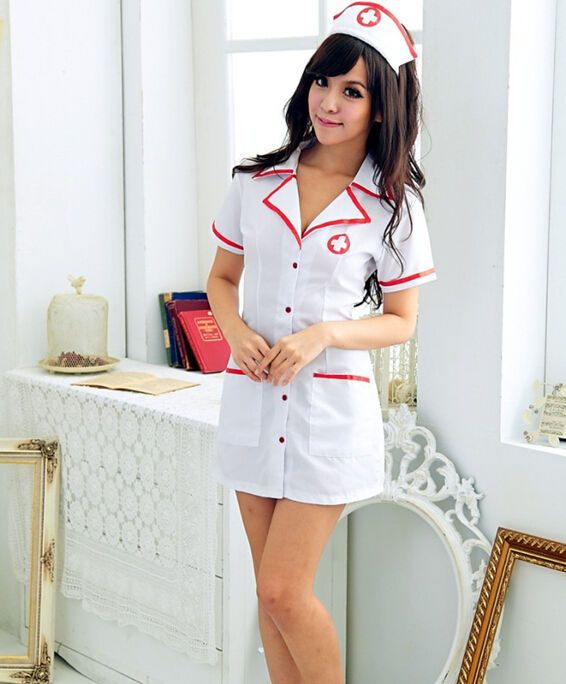 Classic Nurse Uniform Dress Hat Role-playing Game Suit Costume Adult Temptation