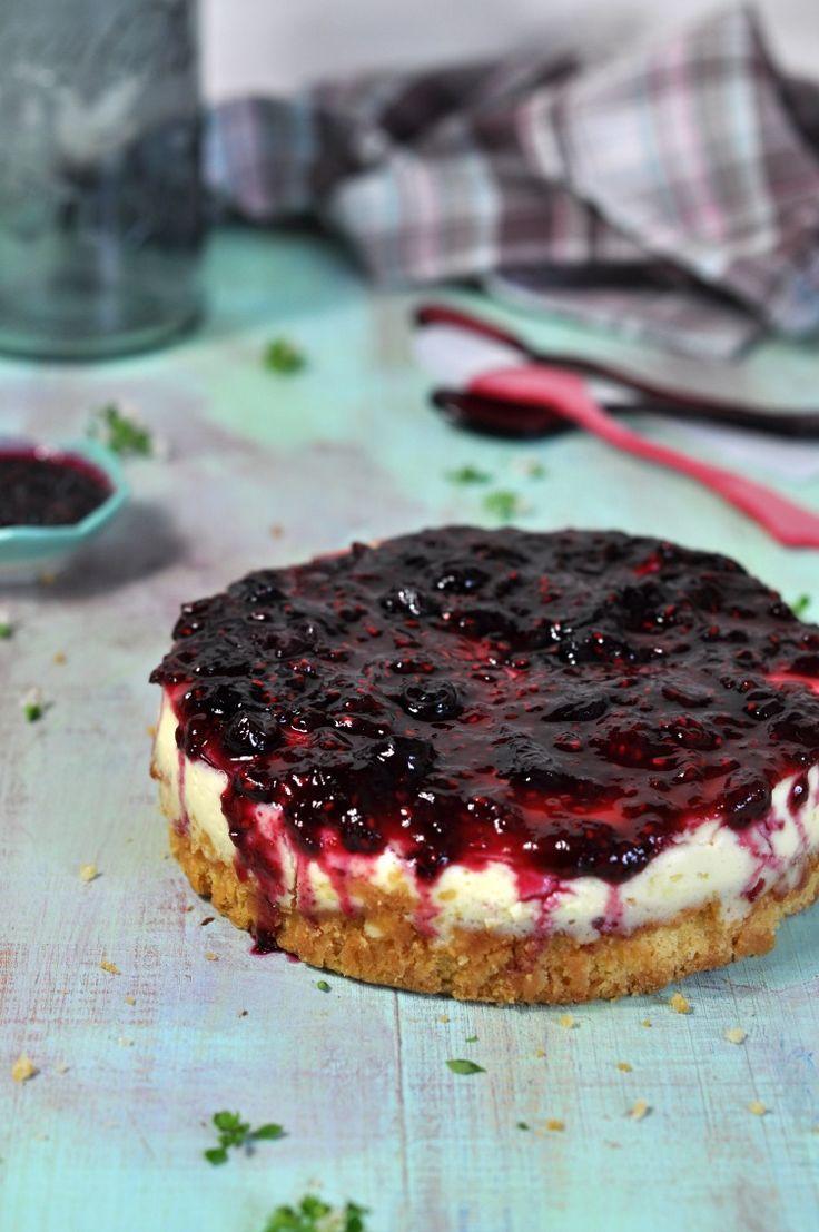 Receta de cheesecake con frutos. Receta de tarta de queso y frutos rojos