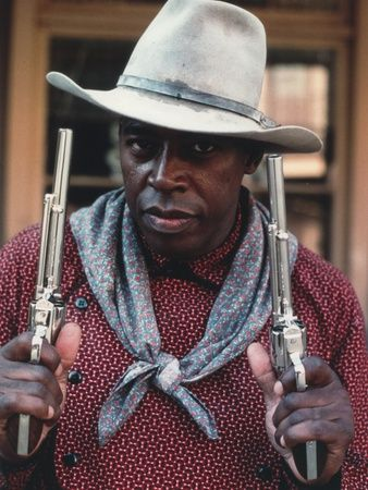 Ernie Hudson in A Cowboy Outfit with Gun Photo by Movie Star News