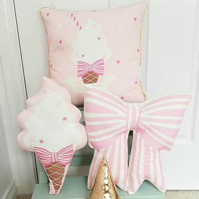 Bow cushions $40 Ice cream cushions $35