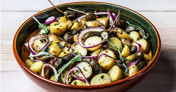 Gresk potetsalat | Oppskrift | Meny.no