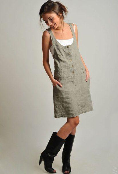 45c55baf9a7a204 Платья и сарафаны из льна: Идеи и.. | платья дизайн in 2019 | Платья ...