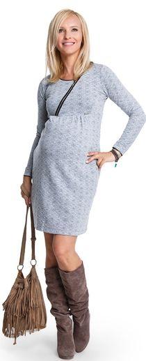 Одежда для беременных, Starlet теплое трикотажное платье для беременных и кормящих