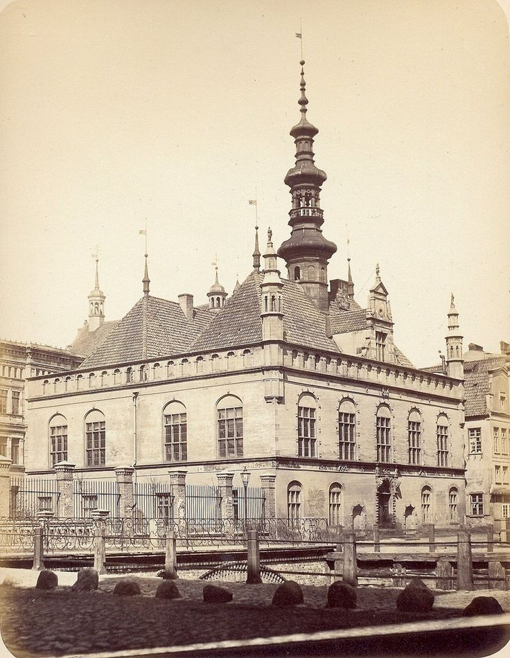 Danzig - modern day Gdańsk, Poland. Hall, 1865