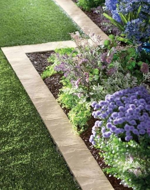 Paver border designs look neat and beautiful, adding stylish organization to yard landscaping ideas and garden design. Pavers provide a wide border that keeps grass out of the garden and add more text