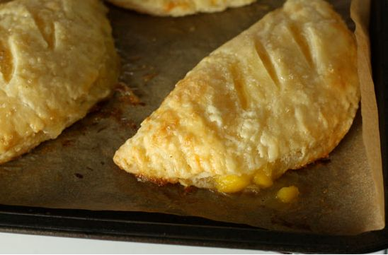 I love a good dessert pie so when I came across this recipe for peach pies I was hooked you can eat these on the go so great to make...