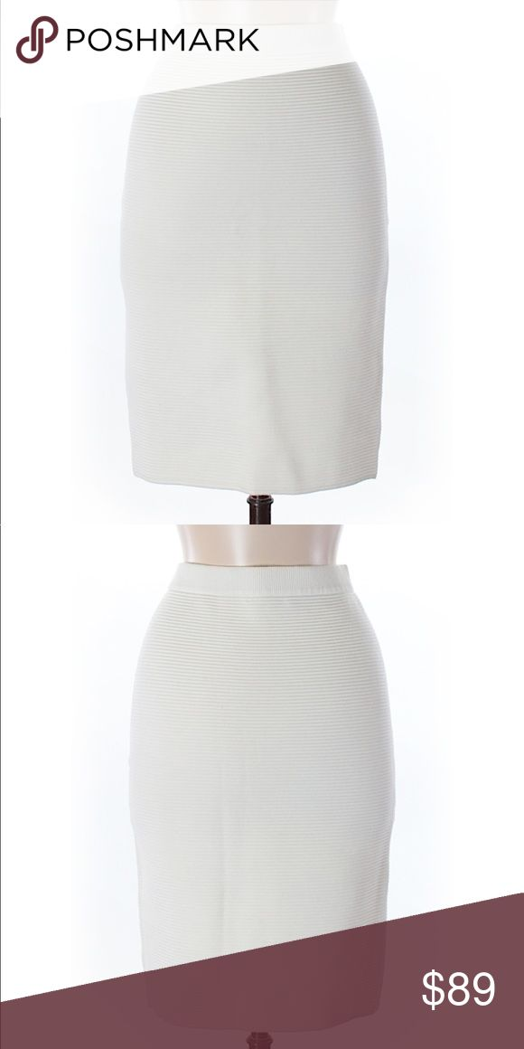 """Rebecca Minkoff Ivory Casual High Waist Skirt Med New without tags.  Designer- Rebecca Minkoff.  US Women's Medium.  21"""" Length & 28"""" Waist.  Material- 71% Viscose & 29% Polyester.  Photos above are of my actual skirt for sale (first photo is front; second photo is back of skirt). Rebecca Minkoff Skirts Midi"""