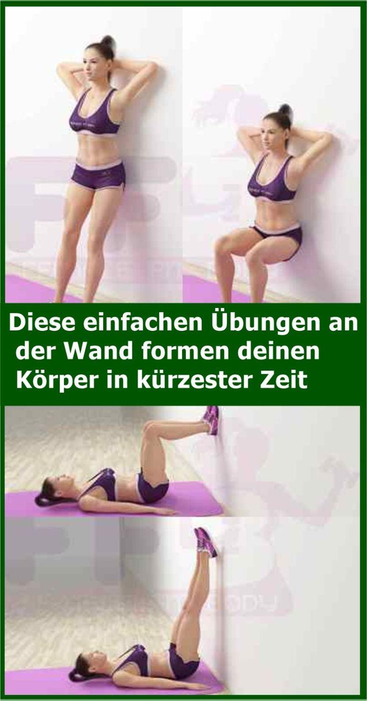 Diese einfachen Übungen an der Wand formen deinen Körper in kürzester Zeit | isfurano! – Nicole Hilmert