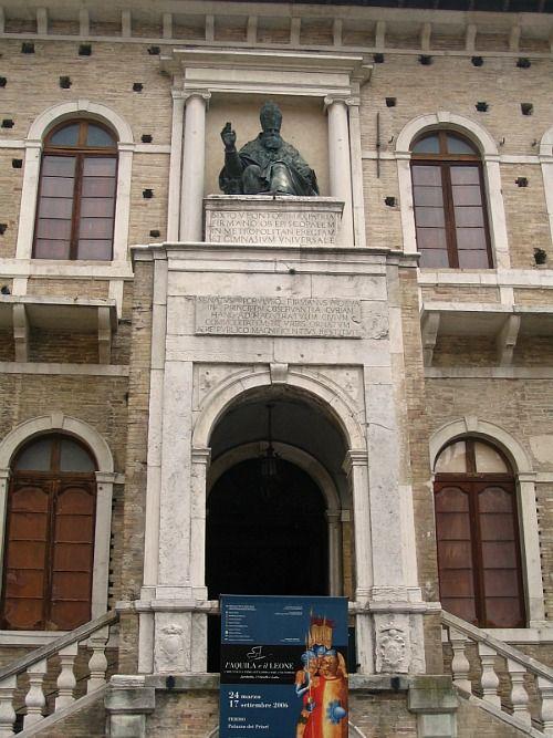 Palazzo dei Priori in Fermo in the Le Marche region of Italy.