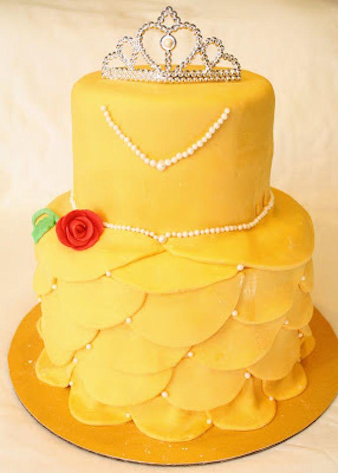 Beauty and The Beast Belle Birthday Cake - 25 Best Girl Birthday Cakes • The Celebration Shoppe