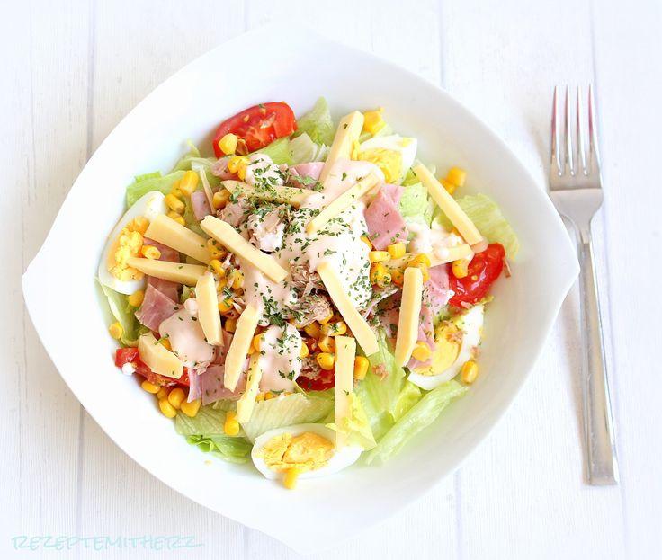 Bunter salat auf italienisch