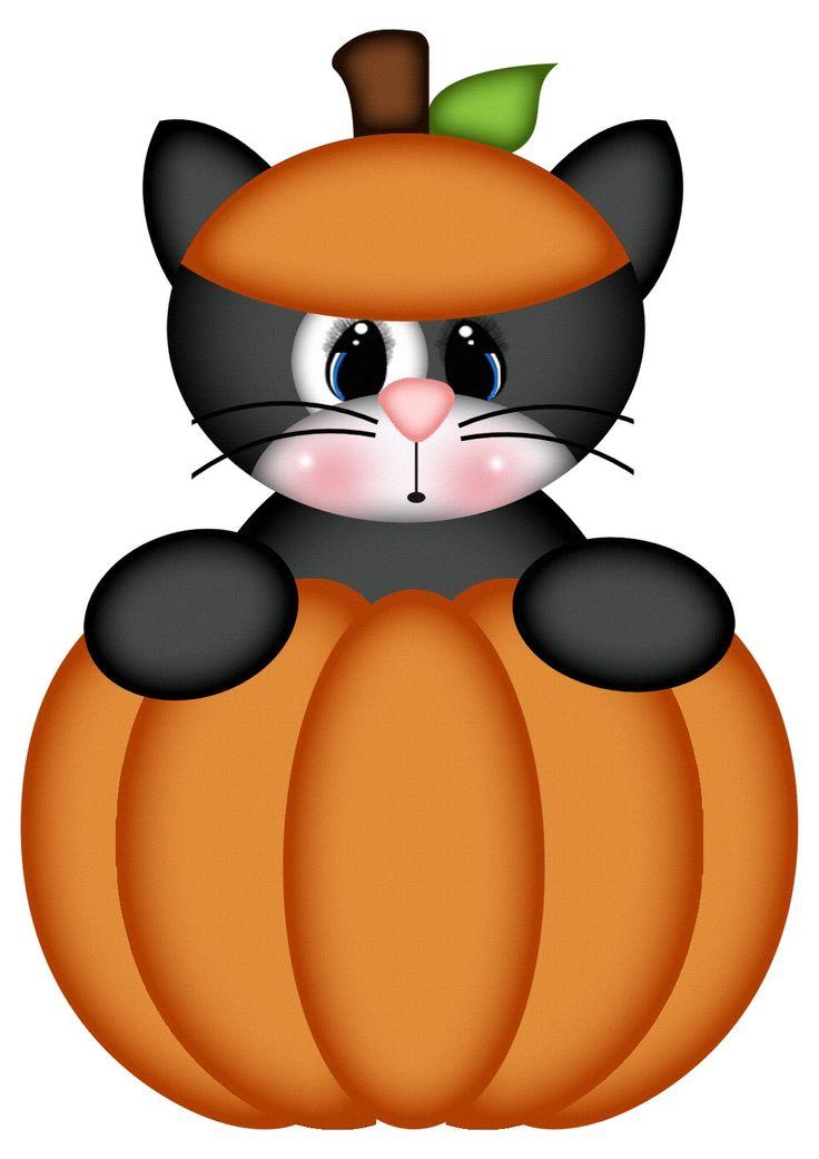 Cat in pumpkin svgs kadoodle bug designs pinterest for Halloween pumpkin clipart