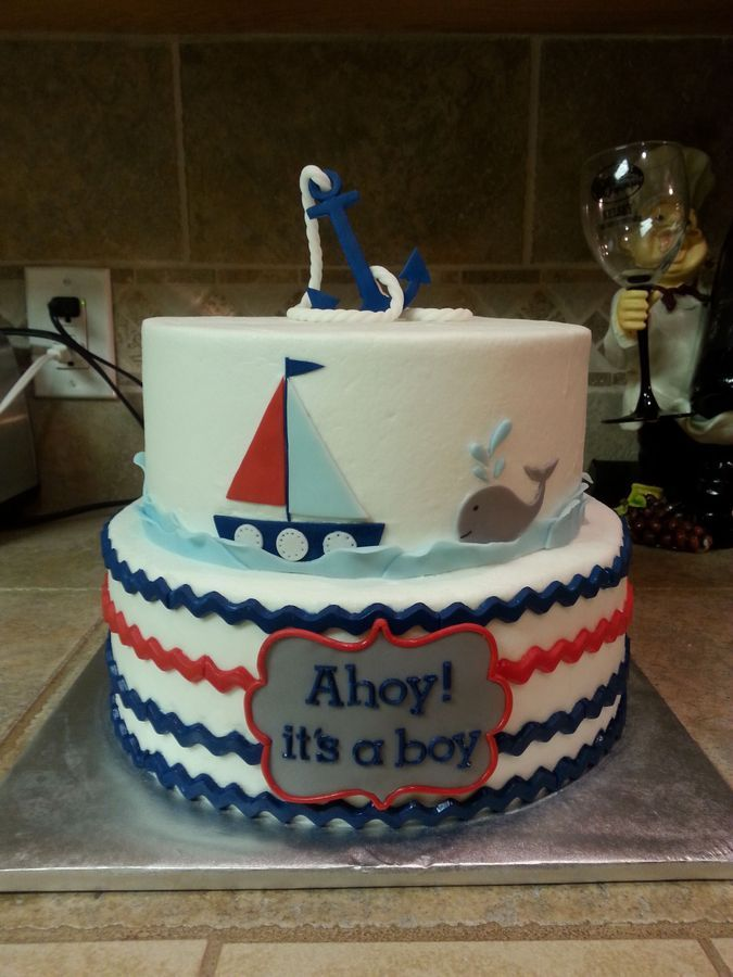 Ahoy, it's a boy baby shower.