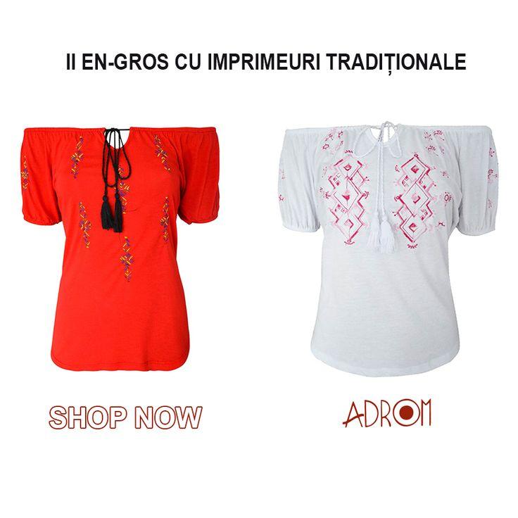 Promovează în magazinul tău iile cu imprimeuri tradiționale și comandă-le la super preț, doar de pe Adrom Collection. http://www.adromcollection.ro/9-bluze