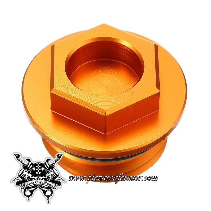 7,11€ - ENVÍO GRATIS - Tapón de Aceite Color Naranja Fabricado en Aluminio Para KTM 125-530 SX/SX-F/EXC/EXC-F