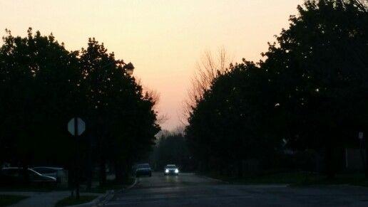 #Sunset after evening meditation