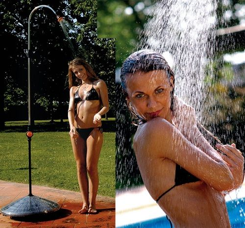 Solar Power Shower Puts A New Spin On Outdoor Showers