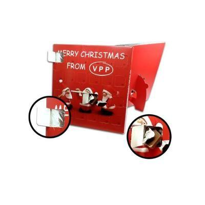 Image of Branded Desktop Advent Calendar. Promotional Christmas Chocolate Advent Calendar