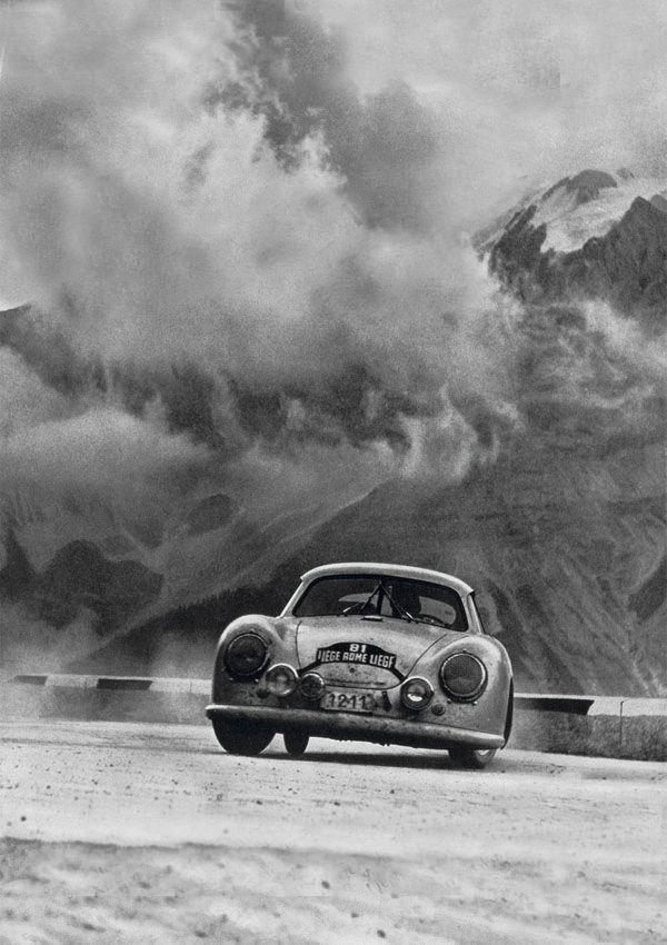 officineottiche: jacqalan: Liége -Rome - Liége . Porsche , 1952. Porsche 3.